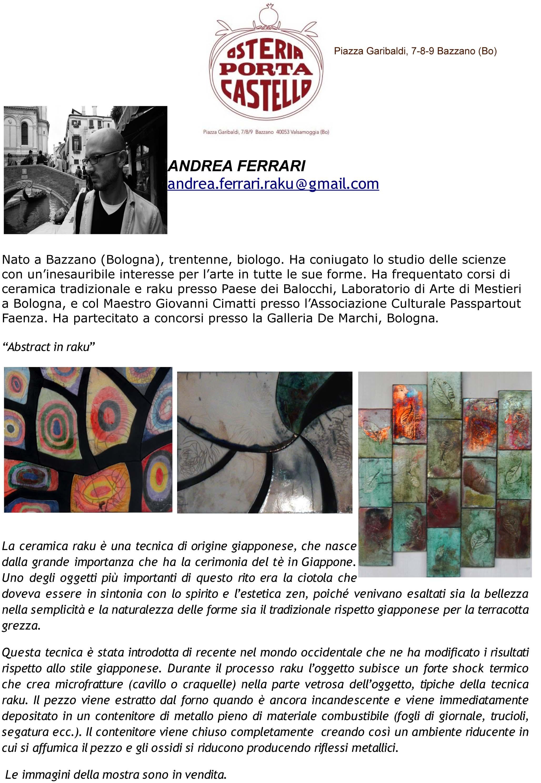 Andrea Ferrari (Raku) OPCScheda artista