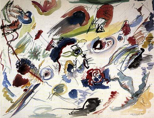 W. Kandinskij, Primo acquerelli stratto , 1908