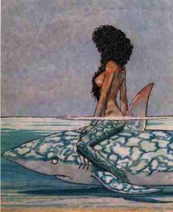 Andrea Pazienza - Betta sullo squalo, 1981.