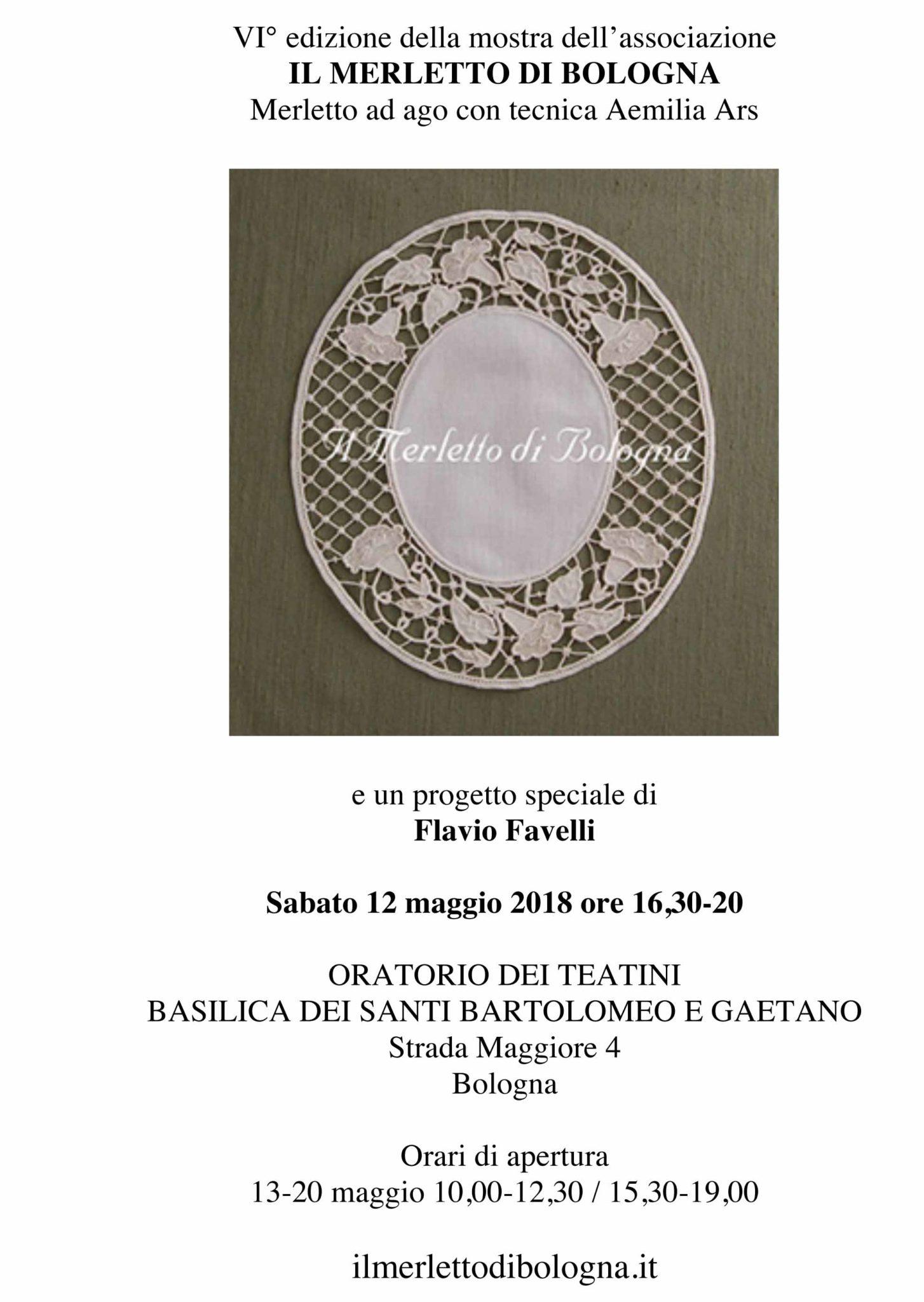 """Locandina della mostra """"Il merletto di Bologna"""
